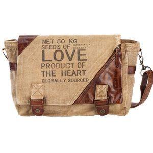 Handbags - NEW Seeds of Love Canvas Messenger Bag